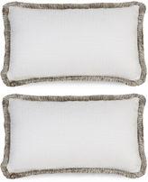 Miles Talbott Collection S/2 F.Blanco 12x20 Pillows, Wht/Gray