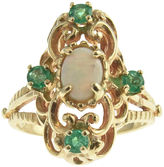 One Kings Lane Vintage Victorian-Style Opal & Emerald Gold Ring