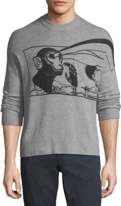 Prada Laser Stencil Cashmere Sweater