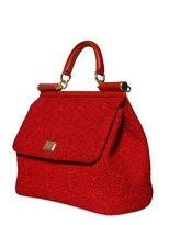 Dolce & Gabbana Sicily Lacy Top Handle Bag
