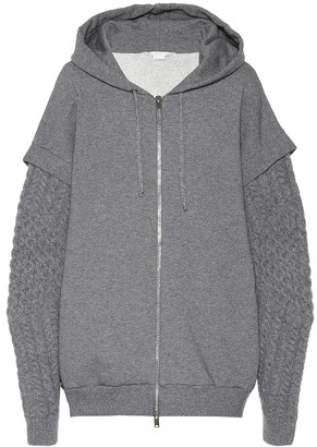 Stella McCartney Wool and alpaca trim cotton hoodie