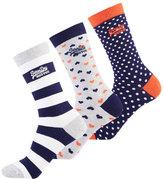 Superdry Heart Socks Triple Pack