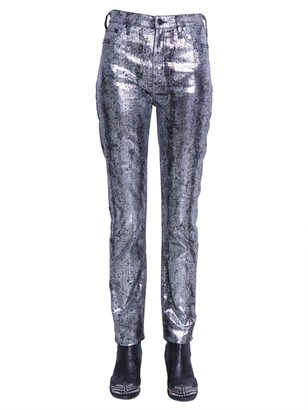 McQ Metallic Look Jeans