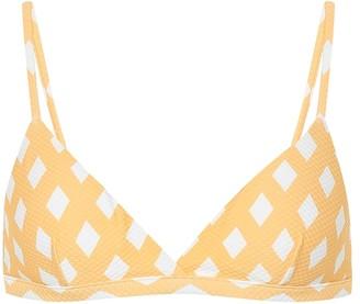 ASCENO Checked bikini top