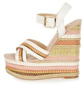 River Island Womens White print espadrille wedges