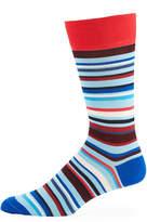 Jared Lang Multi-Striped Mercerized Socks