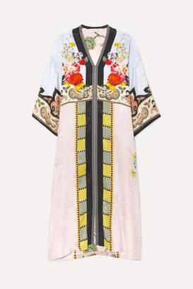 Etro Printed Satin-jacquard Midi Dress - Lilac