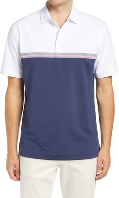 Peter Millar Davenport Engineer Stripe Jersey Performance Polo