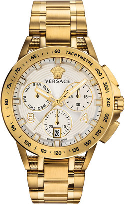 Versace Men's 45mm Sport Tech Chronograph Watch, Gold