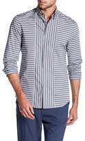 Perry Ellis Striped Long Sleeve Slim Fit Shirt