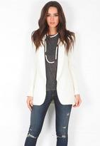 Smythe Long Shawl Blazer in White