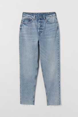 H&M Slim Mom High Ankle Jeans - Blue