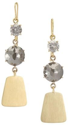 Sylva & Cie Maya 18K Two-Tone Gold & Rough-Cut Diamond Drop Earrings