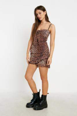Tiger Mist Millie Animal Print Mini Dress - assorted XS at Urban Outfitters