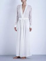 La Perla Shape-Allure long silk and lace robe