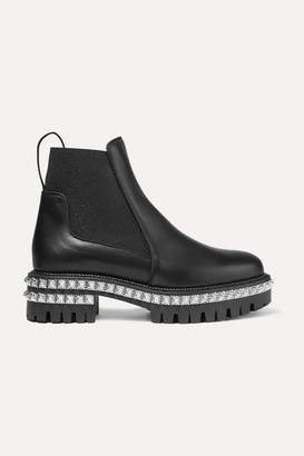 Christian Louboutin By The River 50mm Studded Leather Chelsea Boots - Black