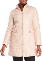 Via Spiga Quilted Mock Neck Coat