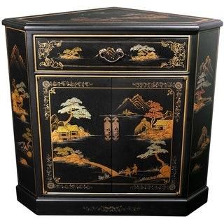 Oriental Furniture Handmade Japanese Corner Cabinet