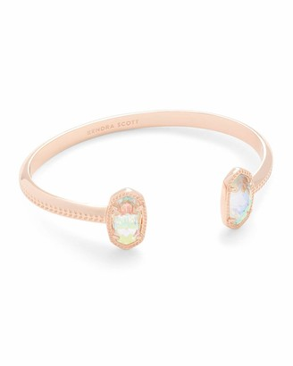 Kendra Scott Elton Rose Gold Cuff Bracelet in Dichroic Glass