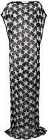 Givenchy star print sheer dress