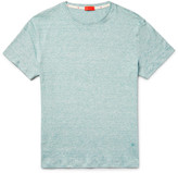 Isaia Space-dyed Knitted Linen And Cotton-blend T-shirt