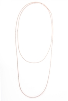 Quiz Rose Gold Diamante Long Necklace
