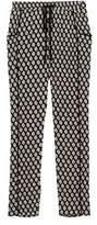Bobeau Woven Black Tile Pull-on Trouser.
