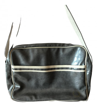 Fred Perry Grey Leather Handbags