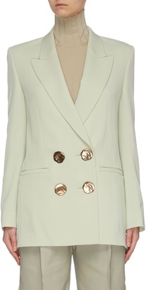 Petar Petrov Double breasted metal button blazer