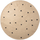 ferm LIVING Black Triangle Pattern Round Rug
