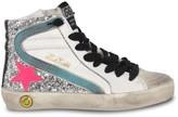 Golden Goose Girl's Glitter Leather Hi-Top Sneakers