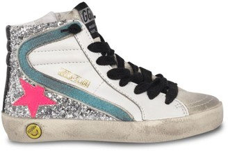 Golden Goose Girl's Glitter Leather Hi-Top Sneakers
