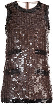 Nina Ricci sequin embellished tank top
