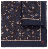 Isaia Floral print gauze pocket square