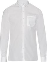 Lanvin Button-cuff embroidered collar cotton shirt