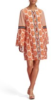 ECI Women's Print Bell Sleeve Dress