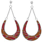 AJ Fashion Jewellery Horseshoes Silver and Ochre Clip On Earrings
