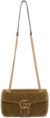 Gucci Marmont Brown Velvet Handbags