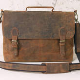 Scaramanga Leather Satchel Briefcase