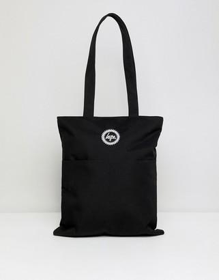 Hype Black Tote Shopper Bag