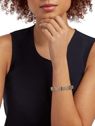 Effy Sterling Silver Black & White Diamond Hinge Cuff Bracelet