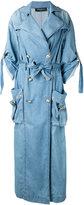Balmain denim double-breasted coat - women - Cotton - 40