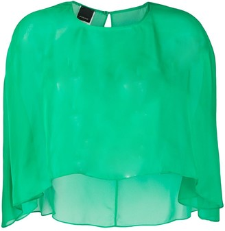 Pinko Sheer Cape Top