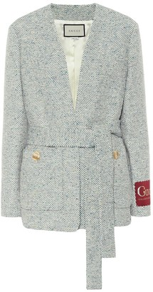 Gucci Tweed cotton-blend jacket
