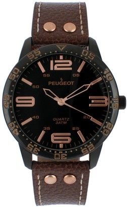 Peugeot Men's Stainless Aviator Sport Watch