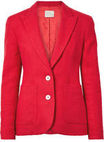 Hillier Bartley Linen Blazer - Crimson