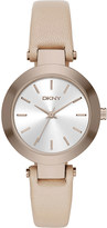 DKNY NY2457 stanhope stainless steel and leather watch