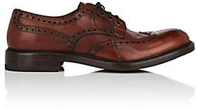 Antonio Maurizi MEN'S BURNISHED LEATHER WINGTIP BLUCHERS-BROWN SIZE 7 M