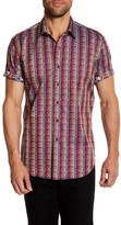 Robert Graham Lightsaber Short Sleeve Classic Fit Dress Shirt