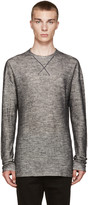 Isabel Benenato White and Black Double Knit Pullover